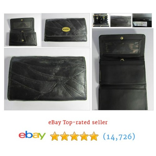 Vintage Beaugency Black patch large leather purse wallet R15200 | #ebay @sangriasuzie  #etsy #PromoteEbay #PictureVideo @SharePicVideo