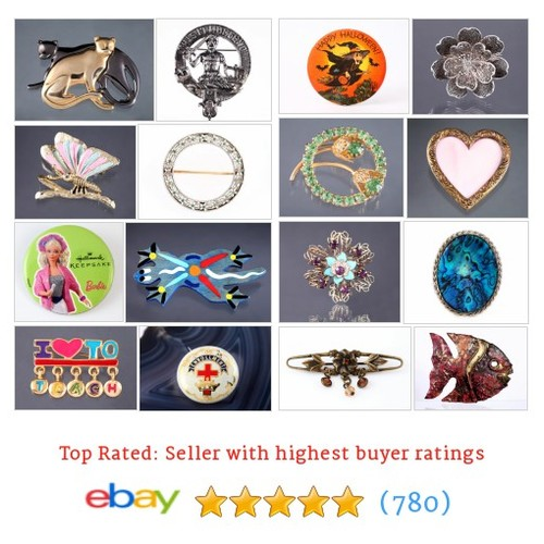 Brooches / Pins Items in The Ritzy Meow store #ebay @theritzymeow  #ebay #PromoteEbay #PictureVideo @SharePicVideo