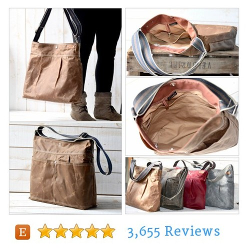 Waxed Canvas bag #etsy @Ikabags  #etsy #PromoteEtsy #PictureVideo @SharePicVideo