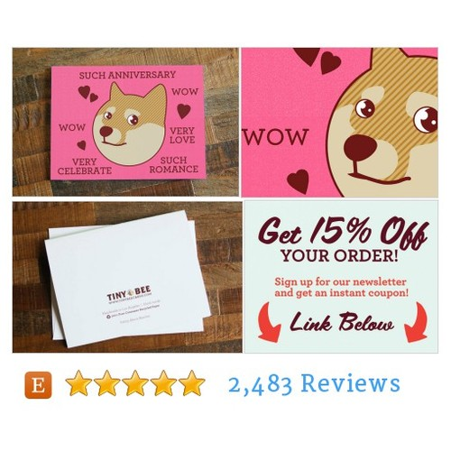 "Doge Card ""Such Anniversary"" - Funny #etsy @tinybeecards  #etsy #PromoteEtsy #PictureVideo @SharePicVideo"