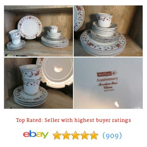 SHEFFIELD ANNIVERSARY LOT OF DINNERWARE 19PCS #ebay @sandpent  #etsy #PromoteEbay #PictureVideo @SharePicVideo