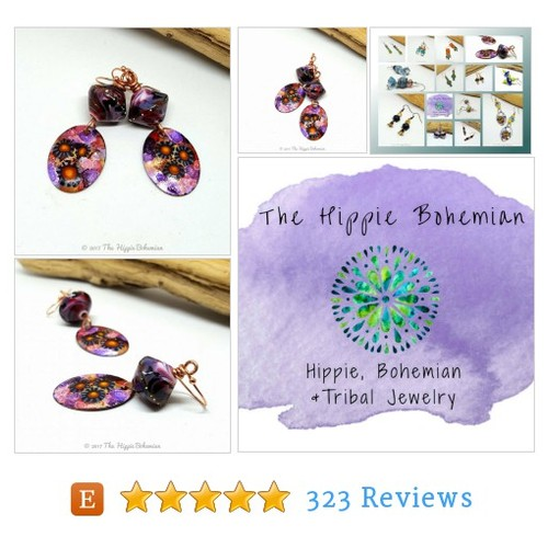 Blackberry Enameled Boho Chic Earrings - #etsy @thehippieboho https://www.SharePicVideo.com/?ref=PostPicVideoToTwitter-thehippieboho #etsy #PromoteEtsy #PictureVideo @SharePicVideo