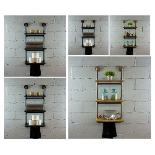 #JUNEAU INDUSTRIAL WALL MOUNTED ETAGERE SHELF RACK  Your order will help 7 TREES GET PLANTED in developing countries throughout the world. For each item ordered 7 trees get planted. #socialselling #PromoteStore #PictureVideo @SharePicVideo
