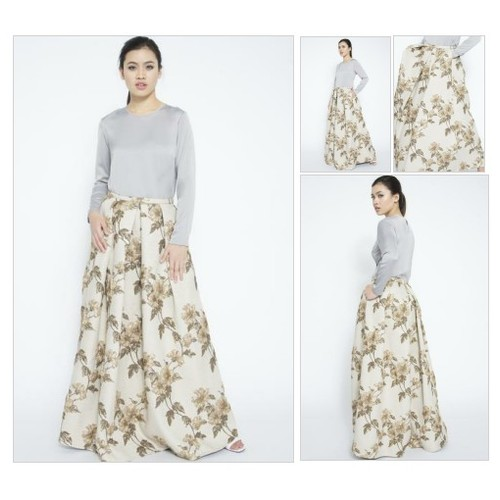 Brocade Pleated Maxi Skirt @adlinaanis #shopify  #socialselling #PromoteStore #PictureVideo @SharePicVideo