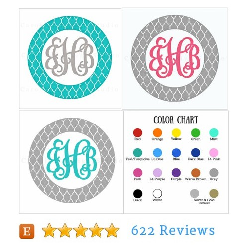 5 INCH Monogram Car Sticker @carolinadecals  #etsy #PromoteEtsy #PictureVideo @SharePicVideo
