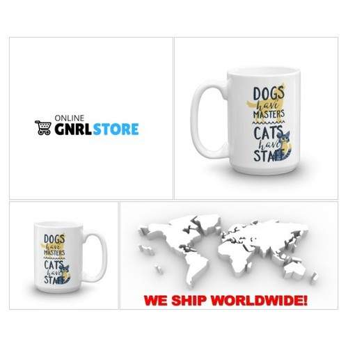 Dogs have Masters But Cats Have Staff - #cats #CatsOfTwitter #catlover #catlovers - #Coffee Cups #socialselling #PromoteStore #PictureVideo @SharePicVideo