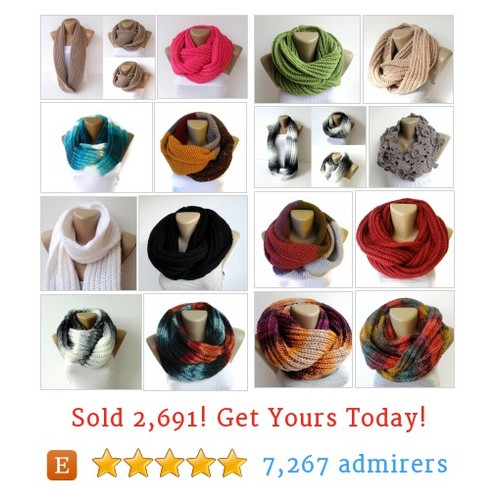 Scarves // Knit &Crochet Etsy shop #etsy @seno_ada  #etsy #PromoteEtsy #PictureVideo @SharePicVideo