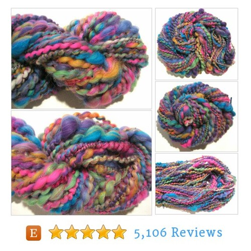 Bulky Handspun Yarn All Girl Band 53 yards #etsy @s_w_studio  #etsy #PromoteEtsy #PictureVideo @SharePicVideo