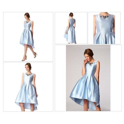 Blue satin midi dress with asymmetric hem @factoryurban #shopify  #socialselling #PromoteStore #PictureVideo @SharePicVideo