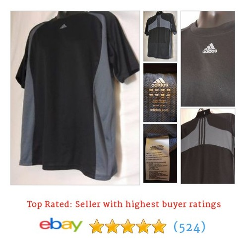 Adidas Mens Polyester Multi-Color Short Sleeve Athletic Shirt Size L #ebay @thehaberdasher6  #etsy #PromoteEbay #PictureVideo @SharePicVideo