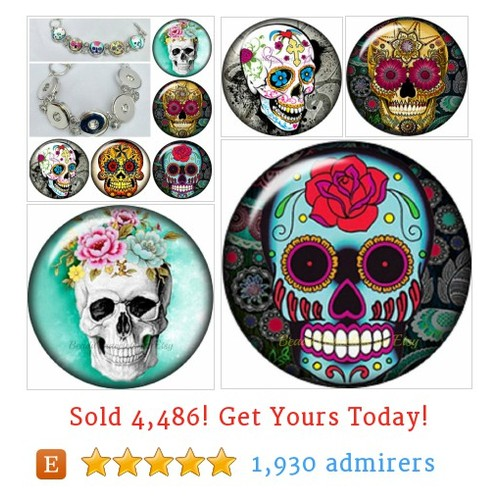 Sugar Skull 5 x 20 mm snap charm bracelet #etsy @otherbeads https://SharePicVideo.com?ref=PostVideoToTwitter-otherbeads #etsy #PromoteEtsy #PictureVideo @SharePicVideo