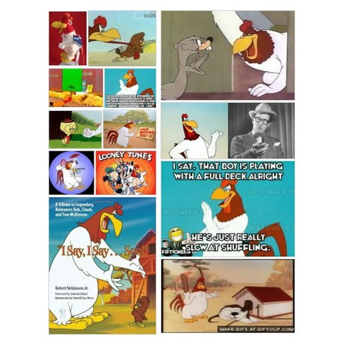 FOGHORN LEGHORN STARTED WITH HERNERY HAWK AND BECAME THE ICONIC MISCHIEVOUS ROOSTER AND MISS PRISSY IN PURSUIT #socialselling #PromoteStore #PictureVideo @SharePicVideo