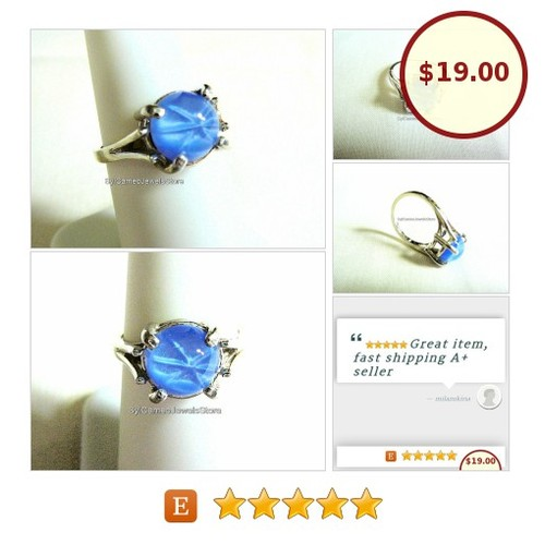 #SterlingSilver #Ring #Jewelry #BlueStarCabochon #SylCameoJewelsStore #Jewelry #MidiRing #IntegrityTT #3friends @etsyRT #SpecialT #etsyspecialt  #etsy #PromoteEtsy #PictureVideo @SharePicVideo
