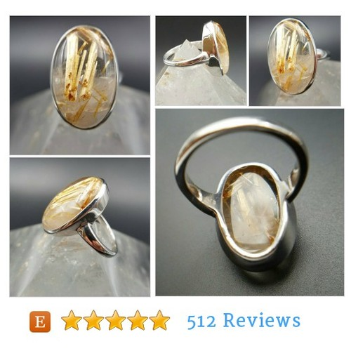 Gorgeous Golden Rutilated Quartz Oval Ring #etsy @crystalrockers  #etsy #PromoteEtsy #PictureVideo @SharePicVideo