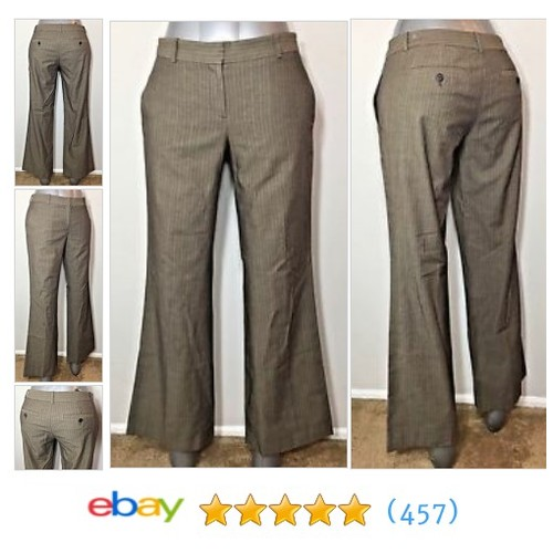 Ann Taylor LOFT Womens Size 2 Pants Brown MARISA Pinstripe Trouser #ebay @ebay_birmingham  #etsy #PromoteEbay #PictureVideo @SharePicVideo