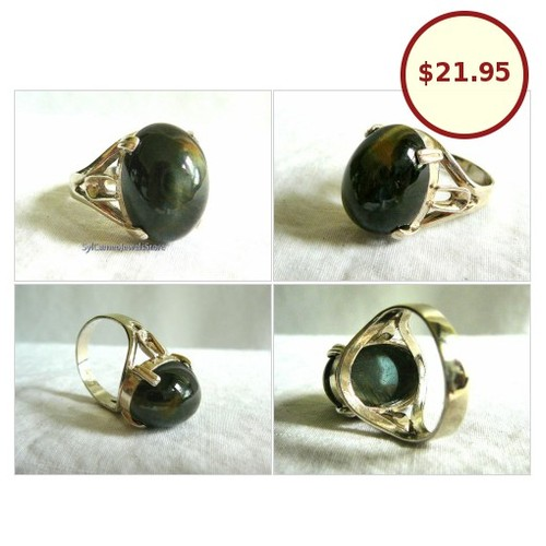 #BlackTigersEye #PolishedStone #Handcrafted #StatementRing #SterlingSilver #FineJewelry #Jewelry #etsy #UnisexJewelry #integritytt #SocialMedia @etsysocial @TwitchOnline  #etsy #PromoteEtsy #PictureVideo @SharePicVideo