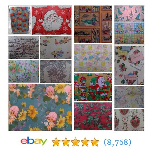 Vintage Gift Wrapping Paper Great deals from cindyscozyclutter #ebay @cynscozyclutter  #ebay #PromoteEbay #PictureVideo @SharePicVideo