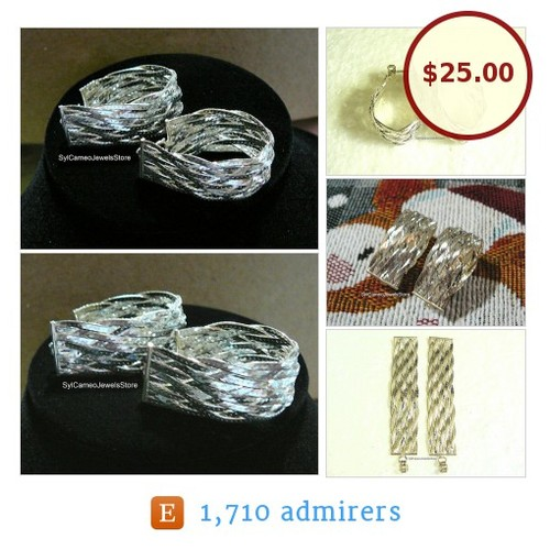 #Woven #Earrings #Braided SterlingSilver #PostStyle #Vintage #ItalianMilor #Jewelry #SylCameoJewelsStore #integritytt #etsyspecialt  #etsy #PromoteEtsy #PictureVideo @SharePicVideo