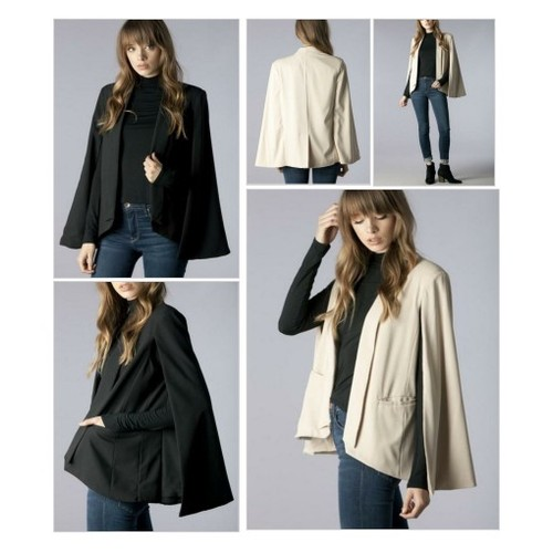 Cape Blazer @saymoreboutique  #socialselling #PromoteStore #PictureVideo @SharePicVideo