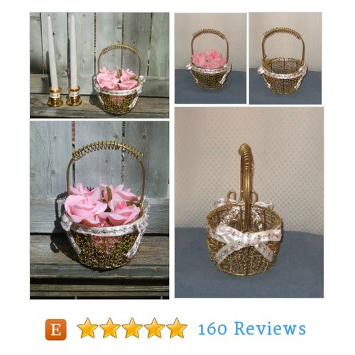 Blush Wedding / Flower Girl Basket / #etsy @csweddingwhimsy https://www.SharePicVideo.com/?ref=PostPicVideoToTwitter-csweddingwhimsy #etsy #PromoteEtsy #PictureVideo @SharePicVideo