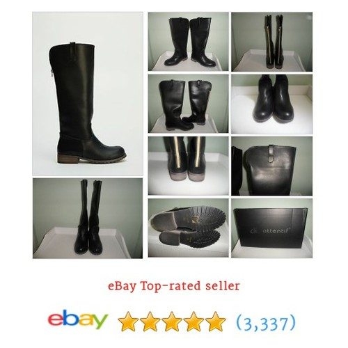 Womens Ladies Black Low Block Heel Zip Knee High Boots Size UK #ebay @aaronlucas02  #etsy #PromoteEbay #PictureVideo @SharePicVideo