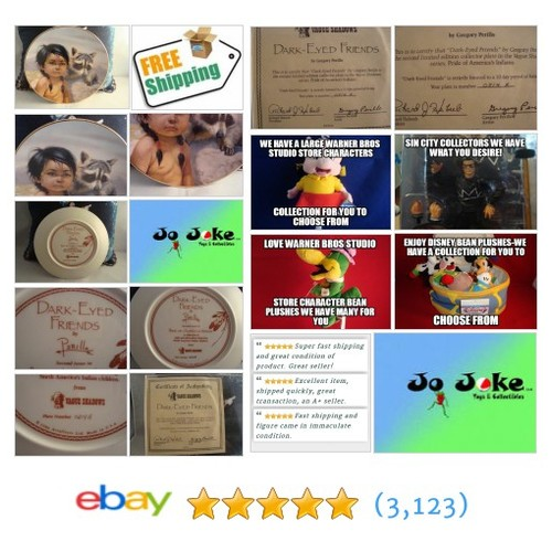 THE DARK-EYED FRIENDS PLATE AMERICAN HERTIAGE COA-1986-#collectiblenumberedplate  | eBay #etsy #PromoteEbay #PictureVideo @SharePicVideo