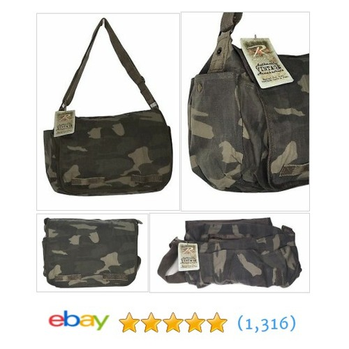 Rothco Men's Vintage Woodland Classic Messenger Bag Camouflage #etsy #PromoteEbay #PictureVideo @SharePicVideo