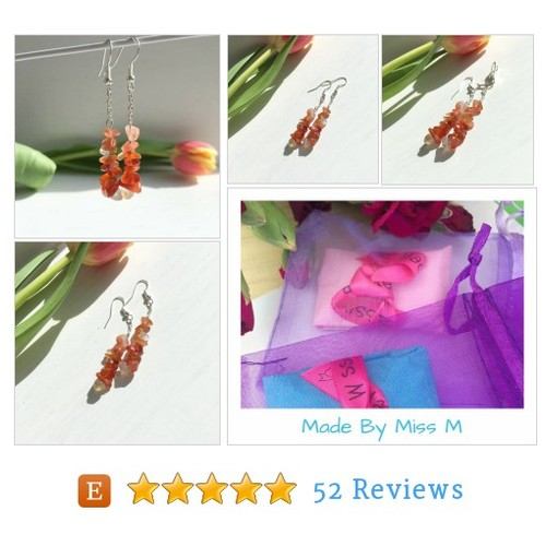 Carnelian Earrings, Carnelian Chip #etsy @madebymissm https://www.SharePicVideo.com/?ref=PostPicVideoToTwitter-madebymissm #etsy #PromoteEtsy #PictureVideo @SharePicVideo