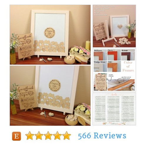 Custom Framed Guest Book Alternative with #etsy @emma_ywp  #etsy #PromoteEtsy #PictureVideo @SharePicVideo