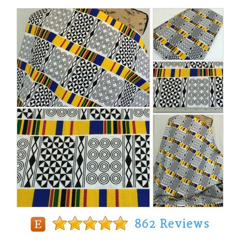 African Print Fabric--Black & White KENTE #etsy @morelovemama  #etsy #PromoteEtsy #PictureVideo @SharePicVideo