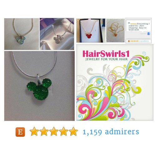 Necklaces and Earrings - JEWELRY FOR YOUR HAIR by HairSwirls1 Etsy shop  #MouseEars Necklace just for you #etsy #PromoteEtsy #PictureVideo @SharePicVideo