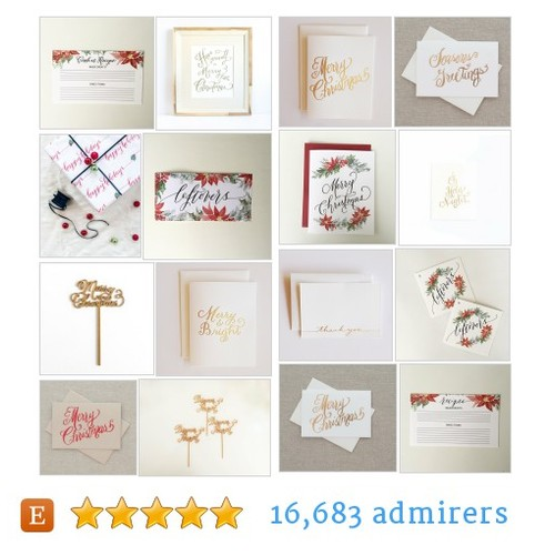 Holiday Card Sale #etsy shop #holidaycardsale @lhcalligraphy  #etsy #PromoteEtsy #PictureVideo @SharePicVideo