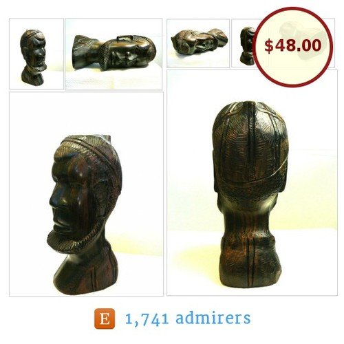 #NewListing #AfricanManHead #ArtObject #Vintage #HandCarved #Wood #Art #Sculpture #etsyspecialt #Figure #African #CollectibleArt #ArtObject #etsyevolution #Etsy   #etsy #PromoteEtsy #PictureVideo @SharePicVideo