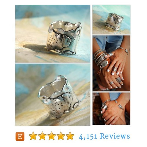 Chunky Ring, Wrap Ring, Sterling SIlver #etsy @byhappygolicky  #etsy #PromoteEtsy #PictureVideo @SharePicVideo