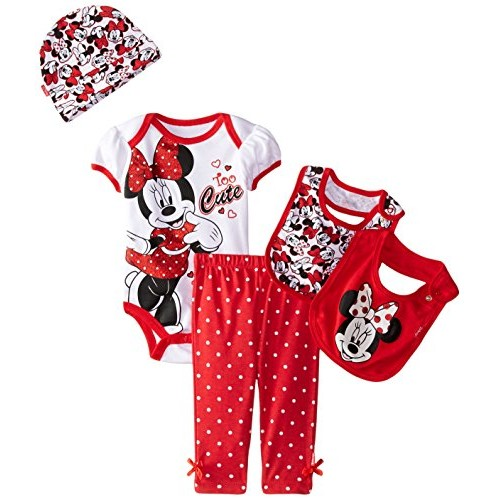 Disney Baby Girls Minnie Mouse 5 Piece Gift Box Set Too Cute, Red, New Born (0-6 Months #socialselling #PromoteStore #PictureVideo @SharePicVideo
