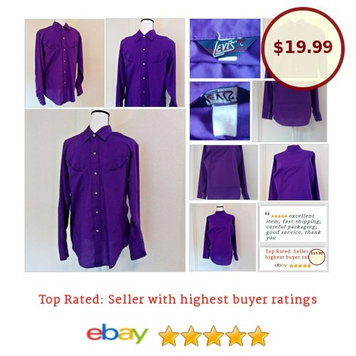 #Levi's Men's #Vintage #WesternShirt Large Purple #HonkyTonk #Rockabilly  #Levi #mensfashion #ebay #gonecountry #etsy #PromoteEbay #PictureVideo @SharePicVideo