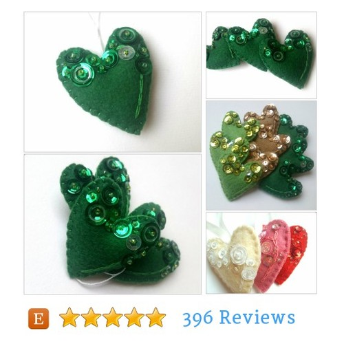 felt heart ornament for her #etsy @coffee_crafts  #etsy #PromoteEtsy #PictureVideo @SharePicVideo