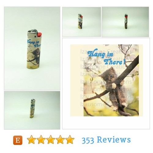 "Custom ""Hang In There"" Cat Lighter #custom #etsy @izausomecreatns  #etsy #PromoteEtsy #PictureVideo @SharePicVideo"