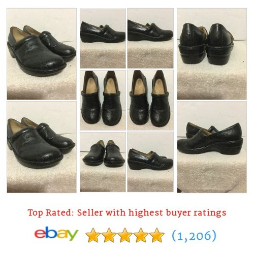 BASS CLOGS Black Embossed Sheena Floral Paisley Slip On Shoes Women #ebay @barbara_hulett  #etsy #PromoteEbay #PictureVideo @SharePicVideo