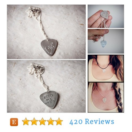 Guitar pick #necklace with hand engraved #etsy #PromoteEtsy #PictureVideo @SharePicVideo