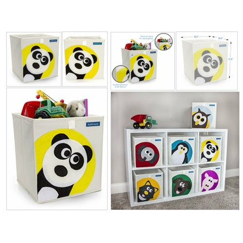 Foldable Cube Storage Bin Box for Nursery or Kids Toys (Panda) - Every Thing Baby #socialselling #PromoteStore #PictureVideo @SharePicVideo
