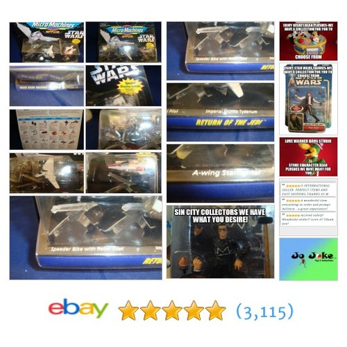 STAR WARS MICRO MACHINES-ROTJ-3 ITEMS&STANDS-1994 NEW!! | eBay #MicroMachine #etsy #PromoteEbay #PictureVideo @SharePicVideo