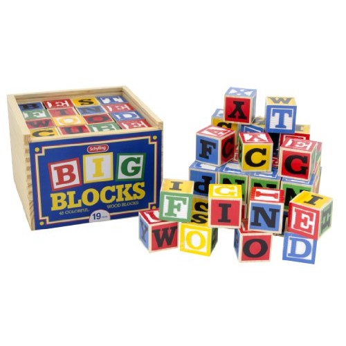 Amazon.com: Schylling Large ABC Wood Blocks: Toys & Games #socialselling #PromoteStore #PictureVideo @SharePicVideo
