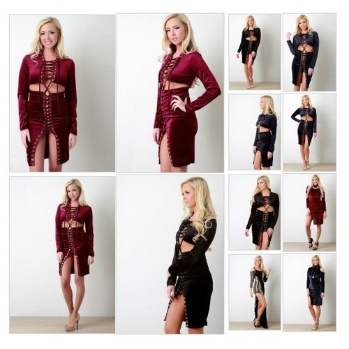 Velvet Strappy Lace-Up Open Midriff Bodycon Dress @kurve_boutique #shopify  #shopify #PromoteStore #PictureVideo @SharePicVideo