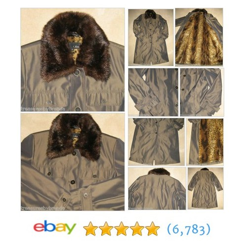 Utex Long Winter Coat Faux Fake Fur Collar Lining Women's Size #ebay @treasuresbybren  #etsy #PromoteEbay #PictureVideo @SharePicVideo