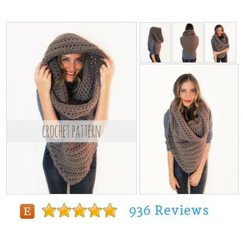 PATTERN for Chunky Soft Crochet Poncho, #etsy @alexitavel  #etsy #PromoteEtsy #PictureVideo @SharePicVideo