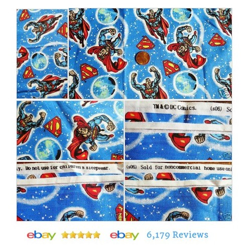 3 Yards SUPERMAN Cotton #Fabric DC Comic Unused Stars Globe Symbol #Sewing #DCComic #etsy #PromoteEbay #PictureVideo @SharePicVideo