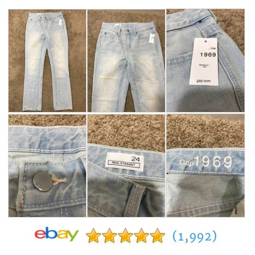 Women's Size 24 Gap 1969 Jeans Straight Leg Light Wash #ebay @jnkseller  #etsy #PromoteEbay #PictureVideo @SharePicVideo