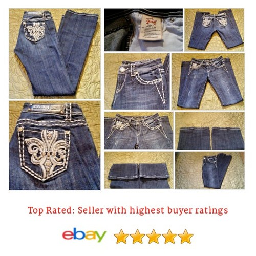 LA Idol Jeans Women's Size 30 Waist Blue Distressed Bling Pockets Rhinestones | eBay #Jean #LAIdol #BootCut #etsy #PromoteEbay #PictureVideo @SharePicVideo