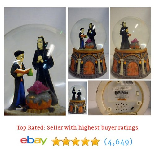 Harry Potter and Snape Snow Globe Enesco 2001 with Sound and Light #ebay @borisbasement  #etsy #PromoteEbay #PictureVideo @SharePicVideo